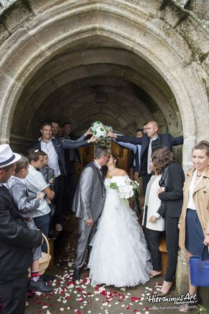 Sortie d'eglise mariage Finistere