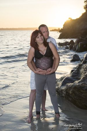 Photographe grossesse couple Finistere